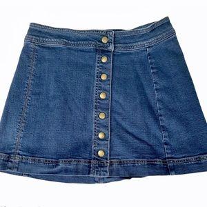 🇱🇷FLASH SALE 🇱🇷 FREE PEOPLE snap up jean skirt